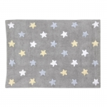 Dywan Tricolor Star Gris/Azul Lorena Canals
