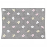 Dywan Tricolor Star Gris/Rosa Lorena Canals