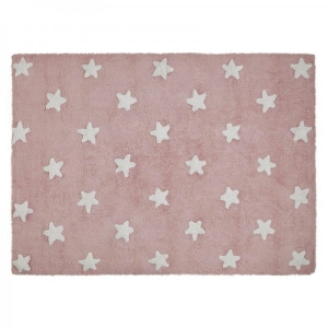 Dywan Pink Stars White Lorena Canals