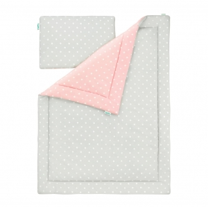Pościel Lovey Dots pink grey Lamps&Co