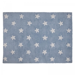 Dywan Blue Stars White Lorena Canals